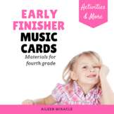 Early Finisher Music Cards {Fourth Grade}