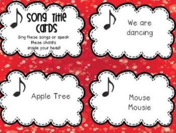 Early Finisher Music Cards {Second Grade}