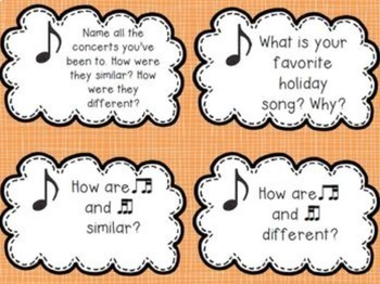 Early Finisher Music Cards {Third Grade}