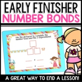 Number Bond and Expressions Practice Early Finisher Activity