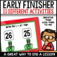 Early Finisher Activities