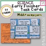 Early Finisher Science Task Cards
