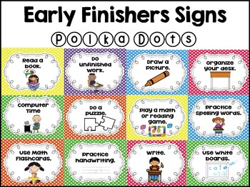 Early Finisher Signs