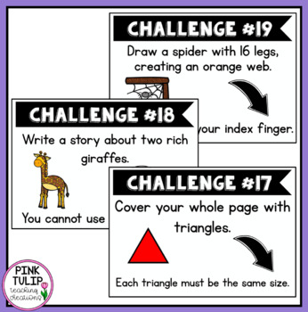Early Finisher Student Challenges - Build Persistence