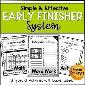 Early Finisher System