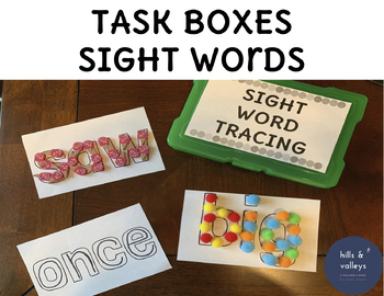Early Finisher Task Boxes - Sight Words