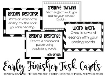 Early Finisher Task Cards