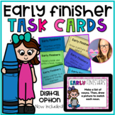 Early Finisher Task Cards for Reading and Math (Digital Option Included)
