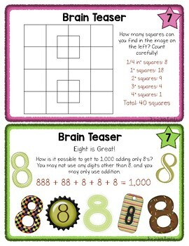 Early Finisher Task Cards (Math)