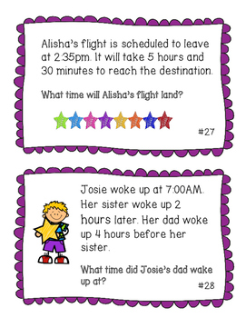 Early Finisher/Small Group Task Cards - Math Word Problems