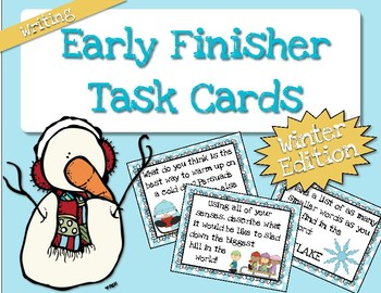 Early Finisher Task Cards (Writing) - Winter Edtion