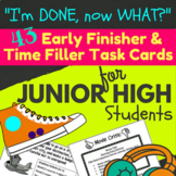 Early Finisher Task Cards for Junior High Students