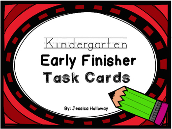 Early Finisher Task Cards for Kinders