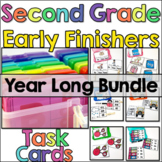 Early Finisher Task Cards for 2nd Grade - Year Long Bundle