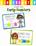 Early Finisher Task Puzzle - Kindergarten Number Sense