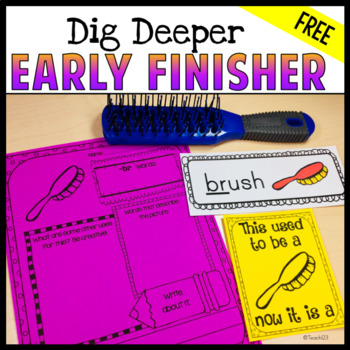 Early Finisher Word Work Creative Thinking