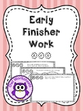 Early Finisher Work - Art