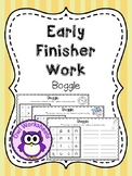 Early Finisher Work - Boggle