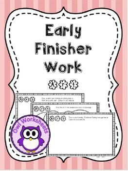Early Finisher Work - Bundle