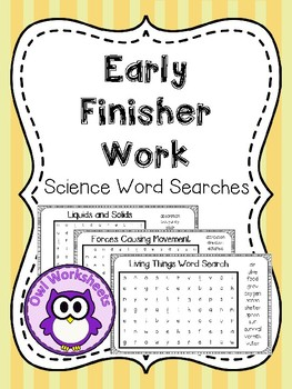 Early Finisher Work - Word Search