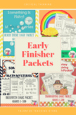 Early Finishers Bundle-Challenge Your Gifted Students