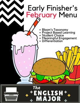 Early Finisher's Choice Menu for February - Bloom's Taxonomy