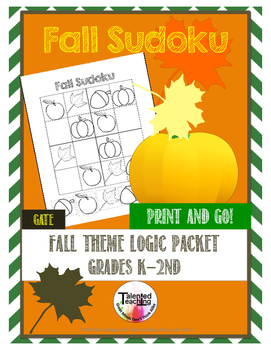 Early Finisher's Fall Critical Thinking Sudoku Puzzles
