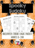 Early Finishers Halloween Critical Thinking Sudoku Puzzles