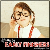 Activities for Early Finishers Independent Packet