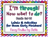 "Early Finishers Activities #2- ""I'm through! Now what to do!?"""