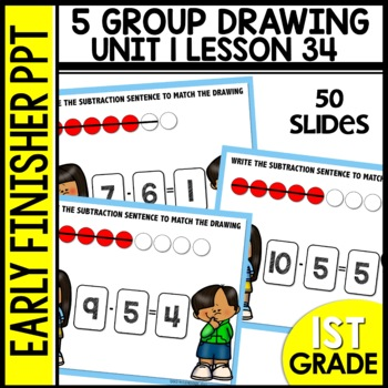 Early Finishers Activities | 5-group drawings | Module 1 lesson 34