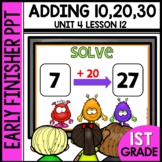 Early Finishers Activities | Adding 10, 20, 30 | Module 4