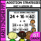 Early Finishers Activities | Addition Strategies | Module