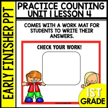 Early Finishers Activities | Counting up and down | Module 1 lesson 4