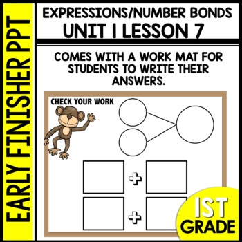 Early Finishers Activities   EXPRESSIONS & NUMBER BONDS   Module 1 lesson 7