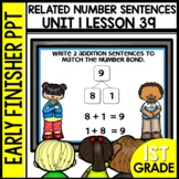 Early Finishers Activities | Related Number Sentences | Mo