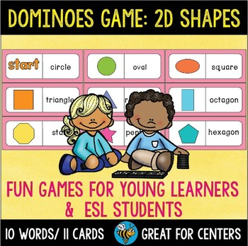 Early Finishers Activity | Dominoes: 2D Shapes
