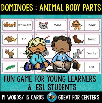 Early Finishers Activity | Dominoes: Animal Body Parts