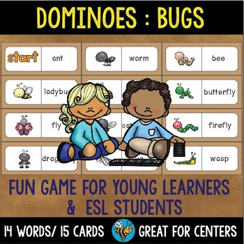 Early Finishers Activity | Dominoes: Bugs