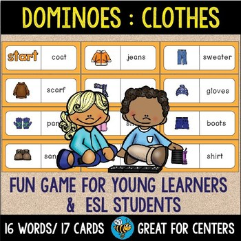 Early Finishers Activity | Dominoes: Clothes