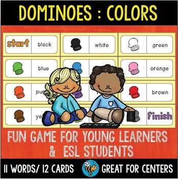 Early Finishers Activity | Dominoes: Colors