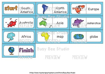 Early Finishers Activity | Dominoes: Continents