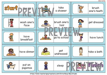 Early Finishers Activity | Dominoes: Daily Routine