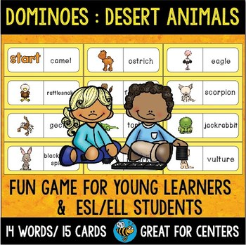 Early Finishers Activity | Dominoes: Desert Animals