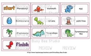 Early Finishers Activity | Dominoes: Dinosaurs