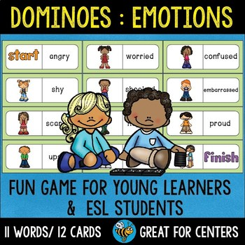 Early Finishers Activity | Dominoes: Emotions