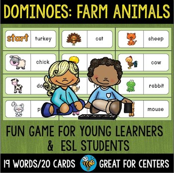 Early Finishers Activity | Dominoes: Farm Animals