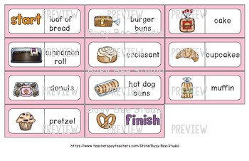 Early Finishers Activity | Dominoes: Food -Bakery