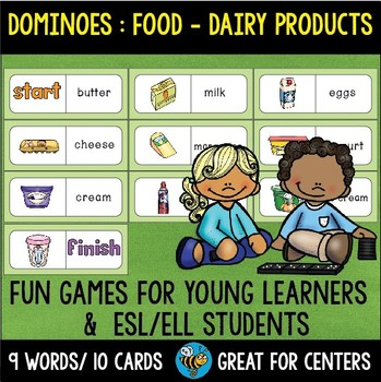Early Finishers Activity | Dominoes: Food -Dairy Products