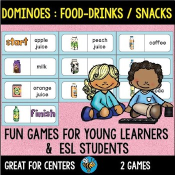 Early Finishers Activity | Dominoes:Food - Drinks and Snacks
